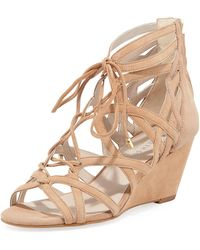 Kenneth Cole - Dylan Suede Ankle-tie Sandals - Lyst