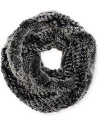 Jocelyn - Rex Rabbit Fur Infinity Scarf - Lyst