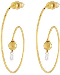 Gurhan Classic Dew Hoop Earrings with Single Briolette wWZpCT