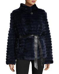 Gorski - Reversible Down & Fur Belted Puffer Coat - Lyst