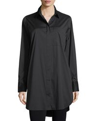 Kendall + Kylie - Laced-back Long-sleeve Shirtdress - Lyst