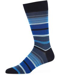 Bugatchi - Men's Striped Cotton-blend Socks - Lyst