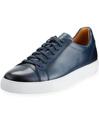 Neiman Marcus - Men's Boltan Low-top Leather Sneakers - Lyst