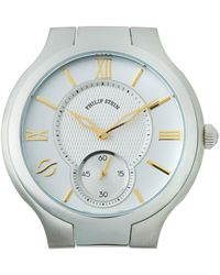 Philip Stein - Stainless Steel Large Round Two-hand Watch Head - Lyst