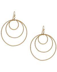 Panacea - Golden Orbital Hoop Drop Earrings - Lyst