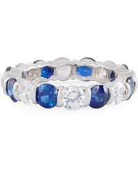 Fantasia by Deserio - Slim Crystal Eternity Band Ring - Lyst