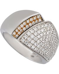 Chimento - 18k White Gold Tapered Diamond Ring - Lyst