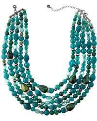 Lydell NYC - Multi-strand Semi-layered Necklace - Lyst
