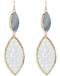 Panacea - Double Marquise Drop Earrings - Lyst