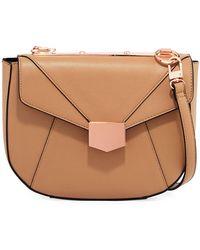 Neiman Marcus - Crest Flap Crossbody Bag - Lyst