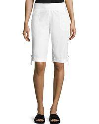 XCVI - Enyo Tab-cuff Shorts - Lyst