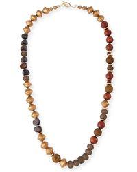 Akola - Long Glass Metallic Necklace - Lyst
