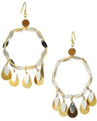 Nakamol - Teardrop Fringe Circle Drop Earrings - Lyst