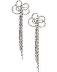 """Kenneth Jay Lane - 4 1/2 """" Crystal Pierced Earrings - Lyst"""