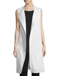 Eileen Fisher - Fisher Project Textured Long Vest - Lyst