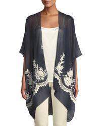 Raj - Floral Vine-embroidered Kimono - Lyst