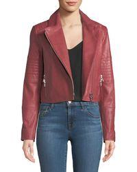J Brand - Aiah Zip-front Lamb Leather Jacket - Lyst