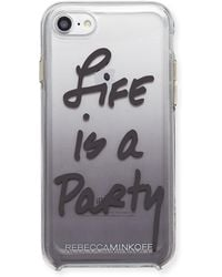Rebecca Minkoff - Life Is A Party Ombre Phone Case Black - Lyst
