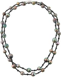 Belpearl - 14k Long Tahitian Pearl & Spinel Necklace - Lyst