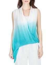 Joan Vass - Sleeveless Dip-dyed Top - Lyst