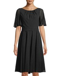 Kate Spade - Spice Things Up Clipped Chiffon A-line Dress - Lyst