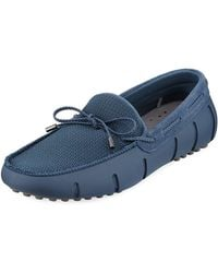 Swims - Mesh & Rubber Braided-lace Boat Shoe Driver - Lyst