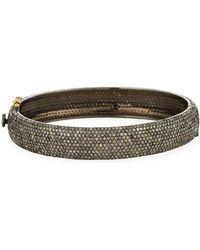Bavna | Pave Champagne Diamond Bangle Bracelet | Lyst