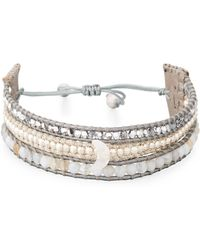 Chan Luu - Three-strand Pull-tie Bracelet In Gray Agate - Lyst