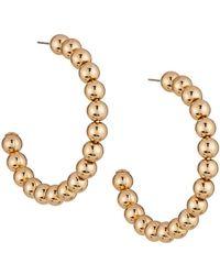 Lydell NYC - Metallic Beaded Hoop Earrings - Lyst