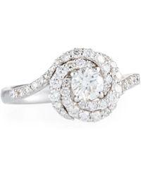 Roberto Coin - 18k White Gold Diamond Ring - Lyst