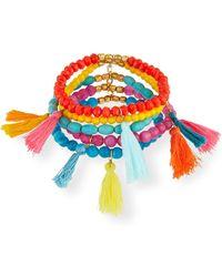 Panacea - Multi-tassel Stretch Bracelets - Lyst