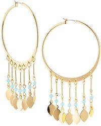 Lydell NYC - Multi-drop Hoop Earrings - Lyst