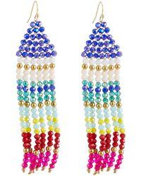 Panacea - Multicolor Crystal Fringe Earrings - Lyst