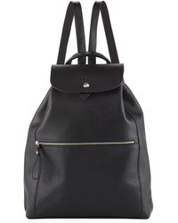 Longchamp - Veau Foulonne Leather Backpack - Lyst