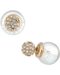 Lydell NYC - Clear Globe Shaker Stud Earrings - Lyst