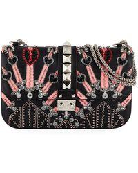 Valentino - Lock Medium Love Blade Shoulder Bag - Lyst