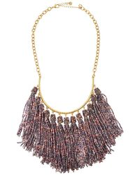 Lydell NYC - Seed Bead Tassel Multi-drop Necklace - Lyst