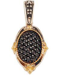 Konstantino - Asteri Petite Pave Black Diamond Oval Pendant - Lyst