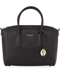 Furla - Tessa Small Saffiano Leather Satchel Bag - Lyst