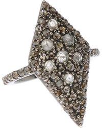 Bavna - Kite-shape Gray & Champagne Diamond Cocktail Ring - Lyst