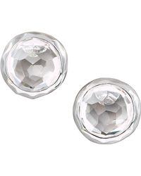 Ippolita - Sterling Silver Rock Candy Stud Earrings In Clear Quartz - Lyst