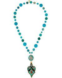 Devon Leigh - Turquoise Mosaic Pendant Necklace - Lyst