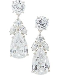 Fantasia by Deserio - Pear Cz Drop Earrings - Lyst
