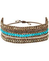 Chan Luu - Beaded Multi-row Cuff Bracelet - Lyst