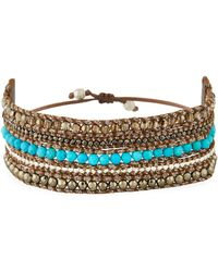 Chan Luu - Beaded Multi-row Cuff Bracelet - Lyst