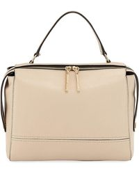 MILLY - Astor Large Leather Satchel Bag - Lyst