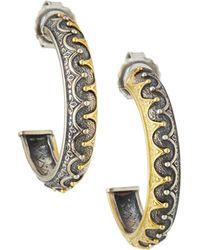 Konstantino | Hebe 18k Crown Hoop Earrings | Lyst