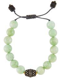 Armenta - Old World Green Moonstone Adjustable Bead Bracelet - Lyst