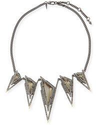 Alexis Bittar - Crystal Spike Bib Necklace - Lyst