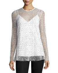 Camilla & Marc - Long-sleeve Mesh Tunic - Lyst